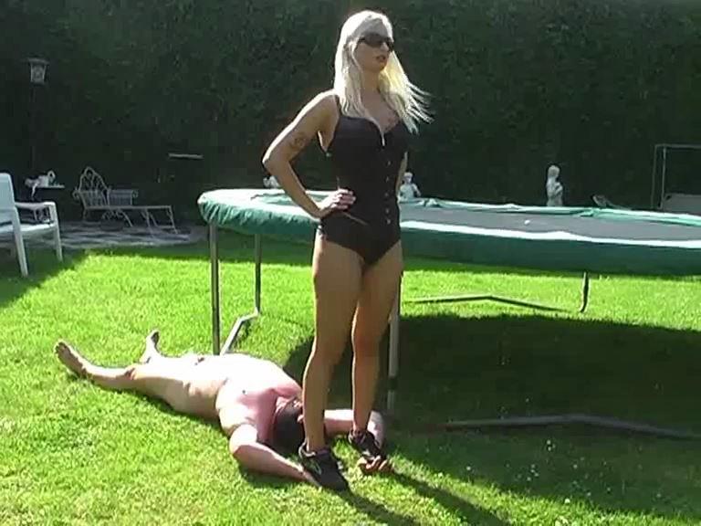 Mistress Kelly Kalashnik In Scene: Soccer shoes vs human carpet - KELLY-KALASHNIK - SD/576p/MP4