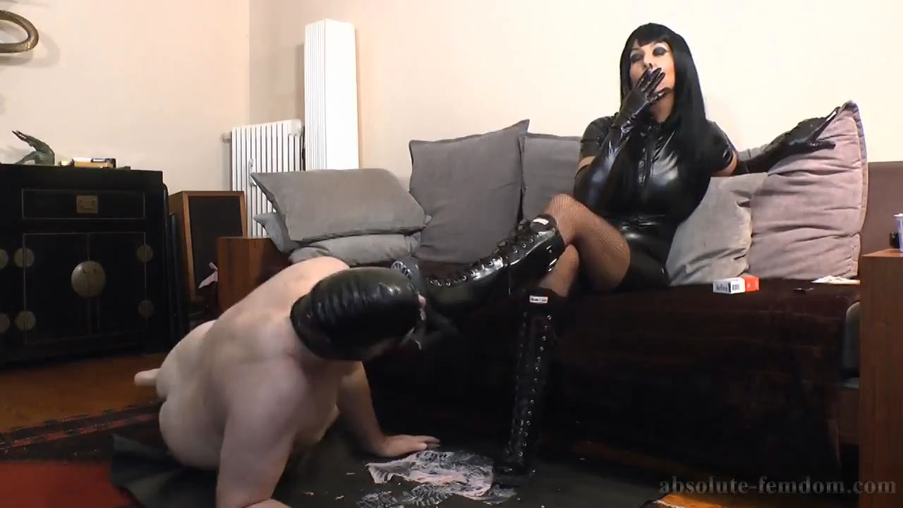 Lick The Mess From My Rubber Boots - ABSOLUTE-FEMDOM - HD/720p/MP4