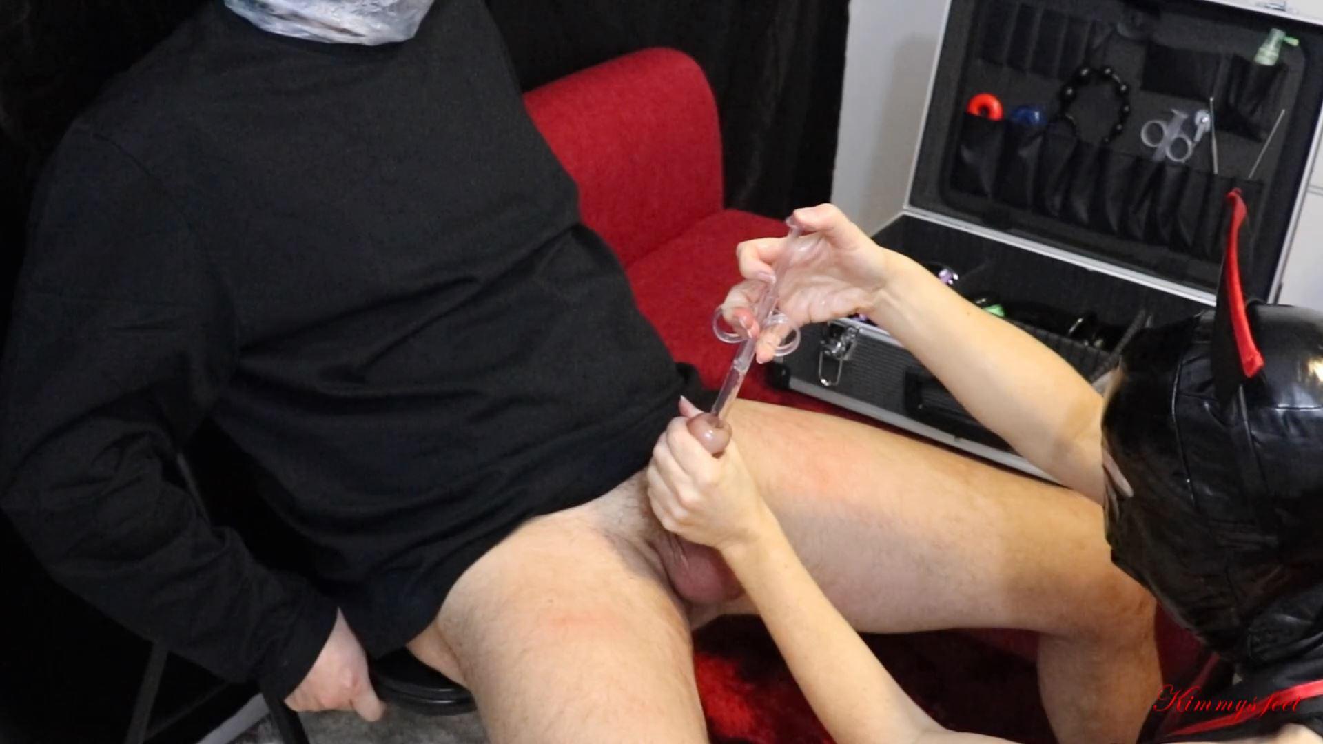 Sadistic Nurse Breathplay Plastic Bag Ballbusting Gloved Handjob Sm - KIMMYS FEET - FULL HD/1080p/MP4