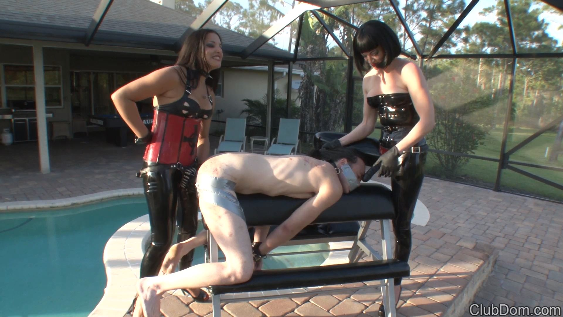 Jean Bardot, Michelle Lacy In Scene: Jean Bardot Duct Taped and Fucked - CLUBDOM / RUTHLESSVIXEN - FULL HD/1080p/MP4