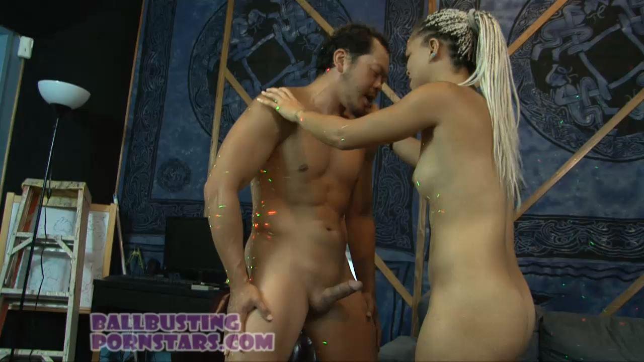 Ashley Lovebug In Scene: Trespasser Ballbusting - BALLBUSTING PORNSTARS - HD/720p/MP4