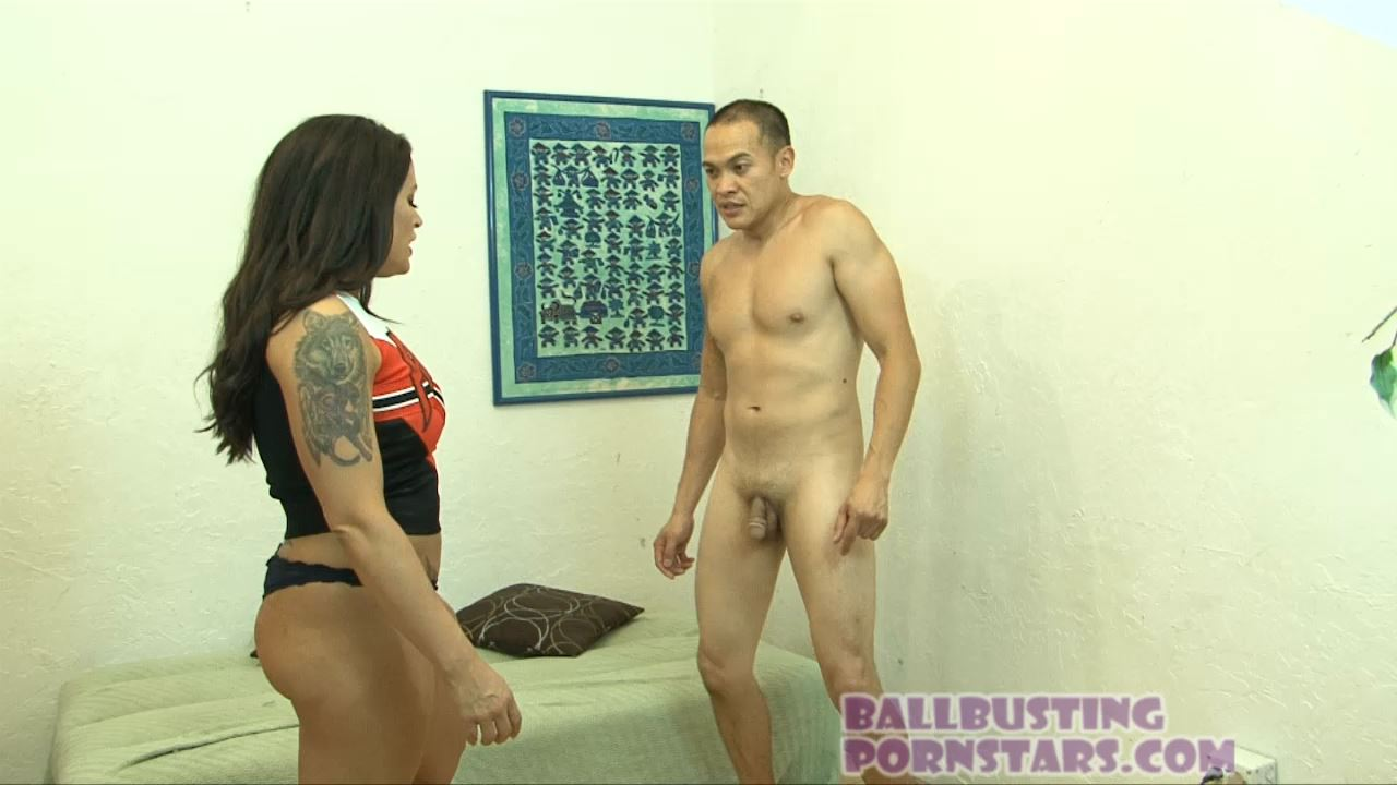Jasmeen Lefleur In Scene: Cheerleader Ballbusting and Facesitting - BALLBUSTING PORNSTARS - HD/720p/MP4