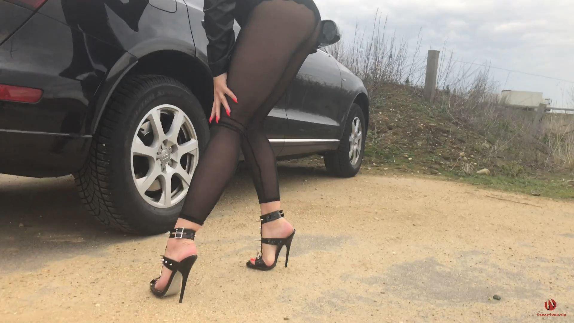 Fetish Model Lena In Scene: Killer Heels And Pedal Pumping - SEXY LENA VIP - FULL HD/1080p/MP4