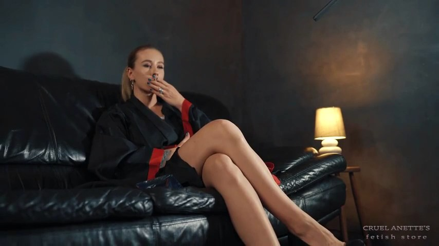 Painted lips, burning cigarette - CRUEL ANETTES FETISH STORE - SD/480p/MP4