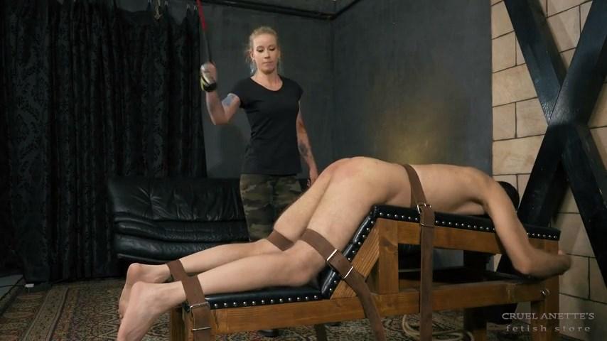 Hard spanking - CRUEL ANETTES FETISH STORE - SD/480p/MP4