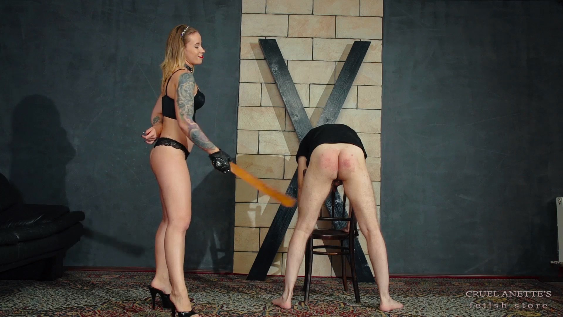 Vicious spanking - CRUEL ANETTES FETISH STORE - FULL HD/1080p/MP4