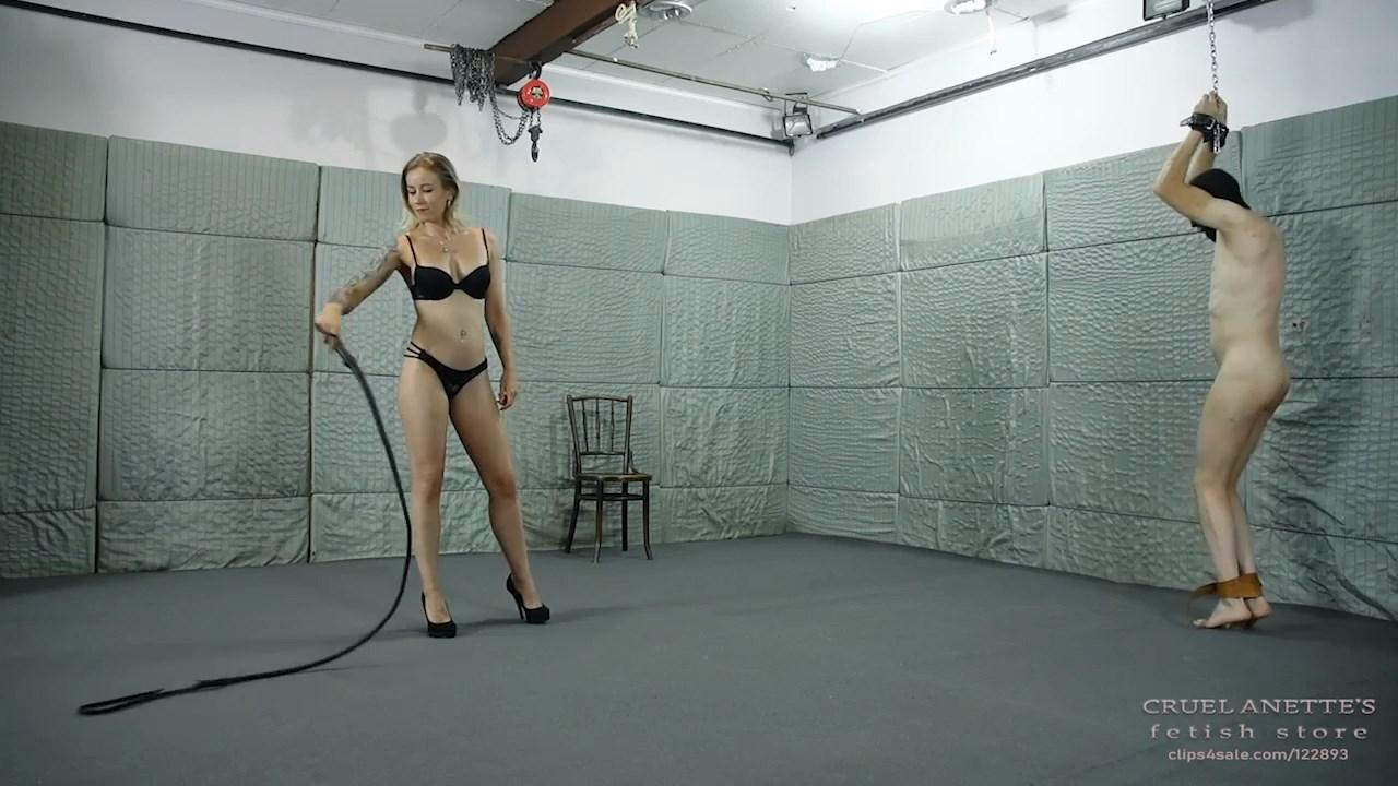 Long, slender bullwhip - CRUEL ANETTES FETISH STORE - HD/720p/MP4