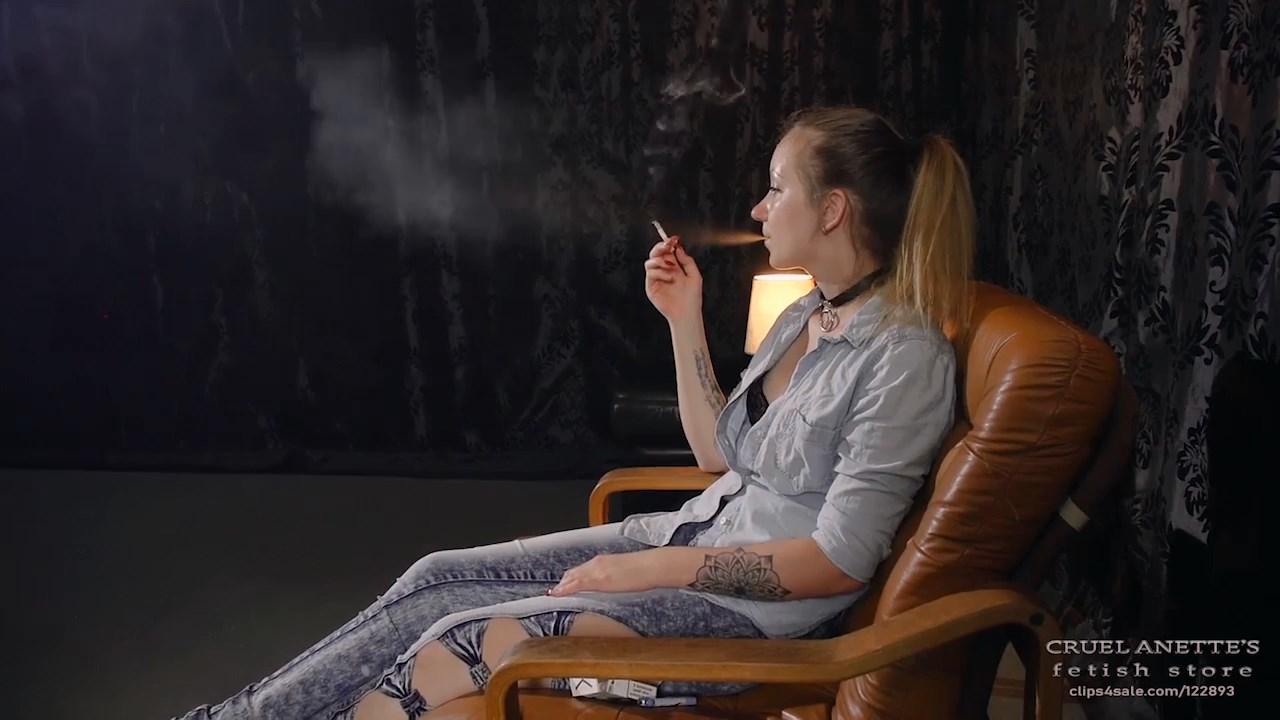 Feeding on a cigarette - CRUEL ANETTES FETISH STORE - HD/720p/MP4