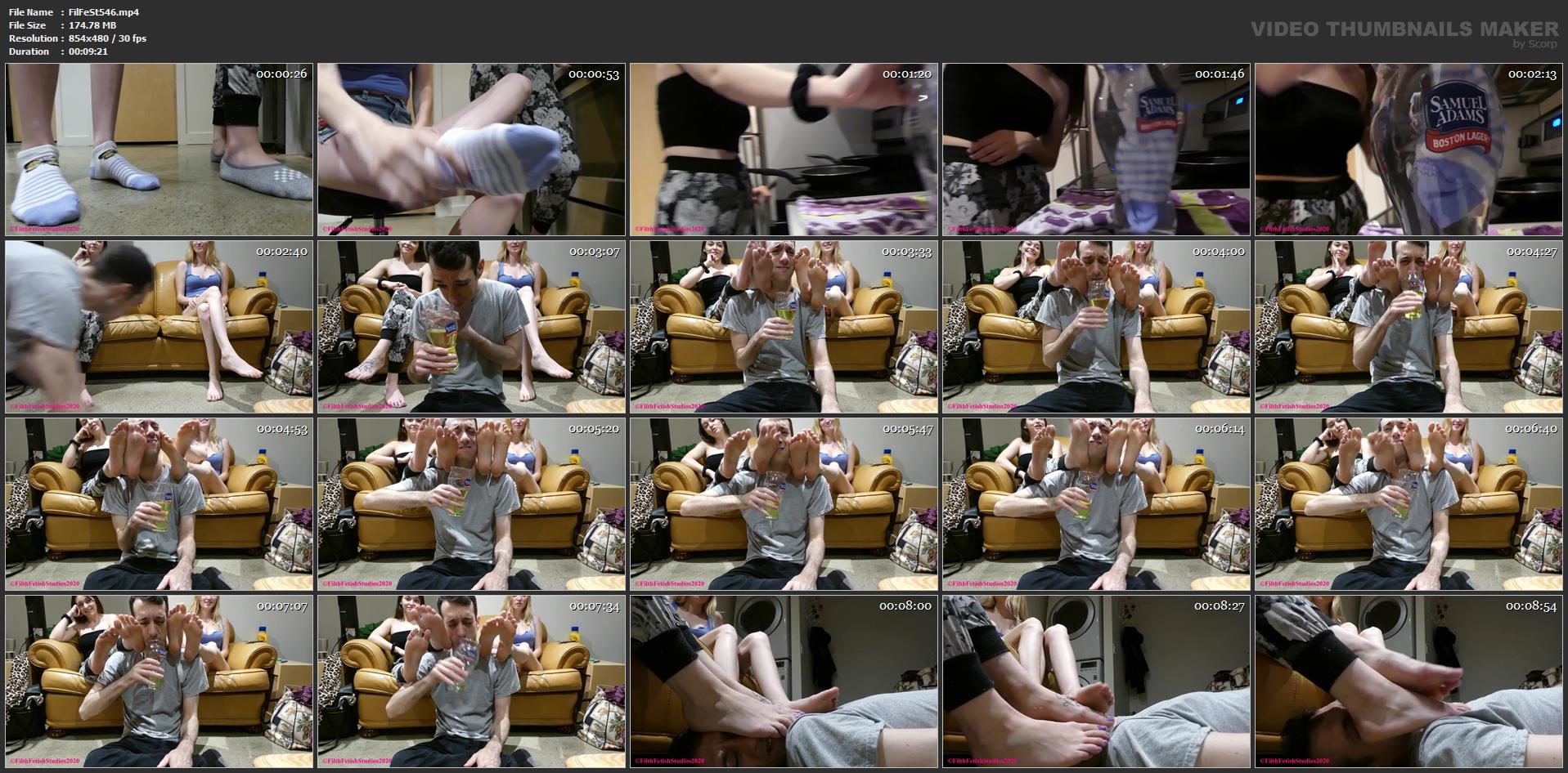 Co-ed Foot Sweat - Princess Violet and Princess Sarah - FILTH FETISH STUDIOS - SD/480p/MP4