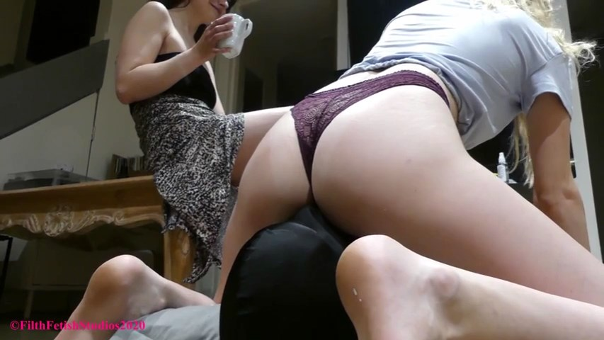 The Discovery   Fan Facesitting - Princess Violet and BFF Sarah - FILTH FETISH STUDIOS - SD/480p/MP4