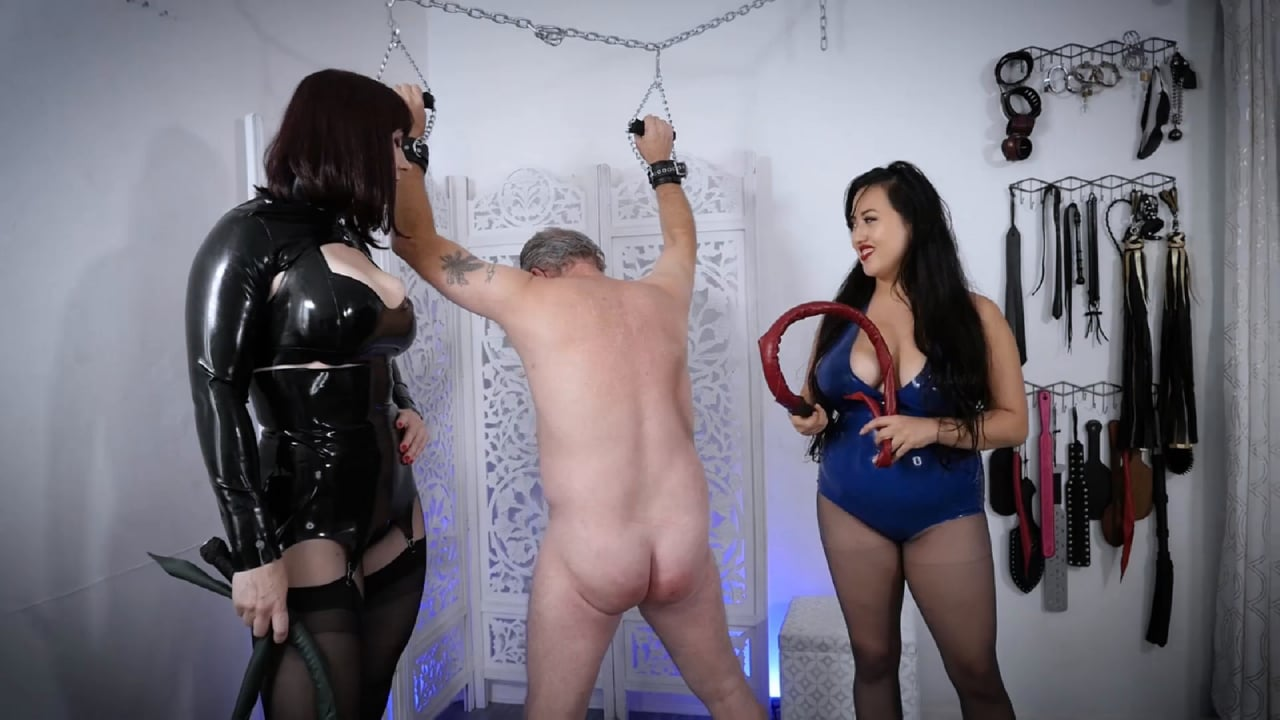 Mistress Stella Liberty In Scene: Double Dragontail with Andrea and Jazmin - STELLALIBERTYVIDEOS - FULL HD/1080p/MP4