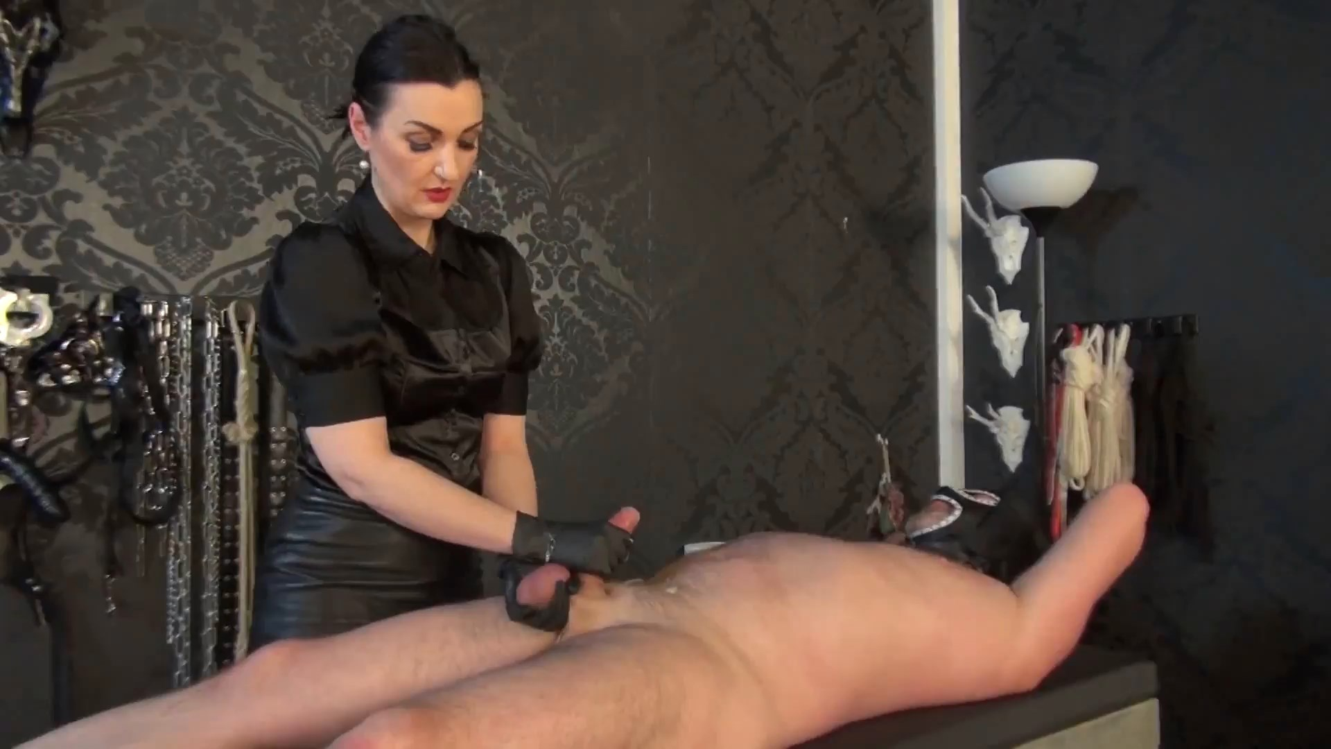 Cbt Game And Handjob With Forced Orgasm - LADY VICTORIA VALENTE - FULL HD/1080p/MP4