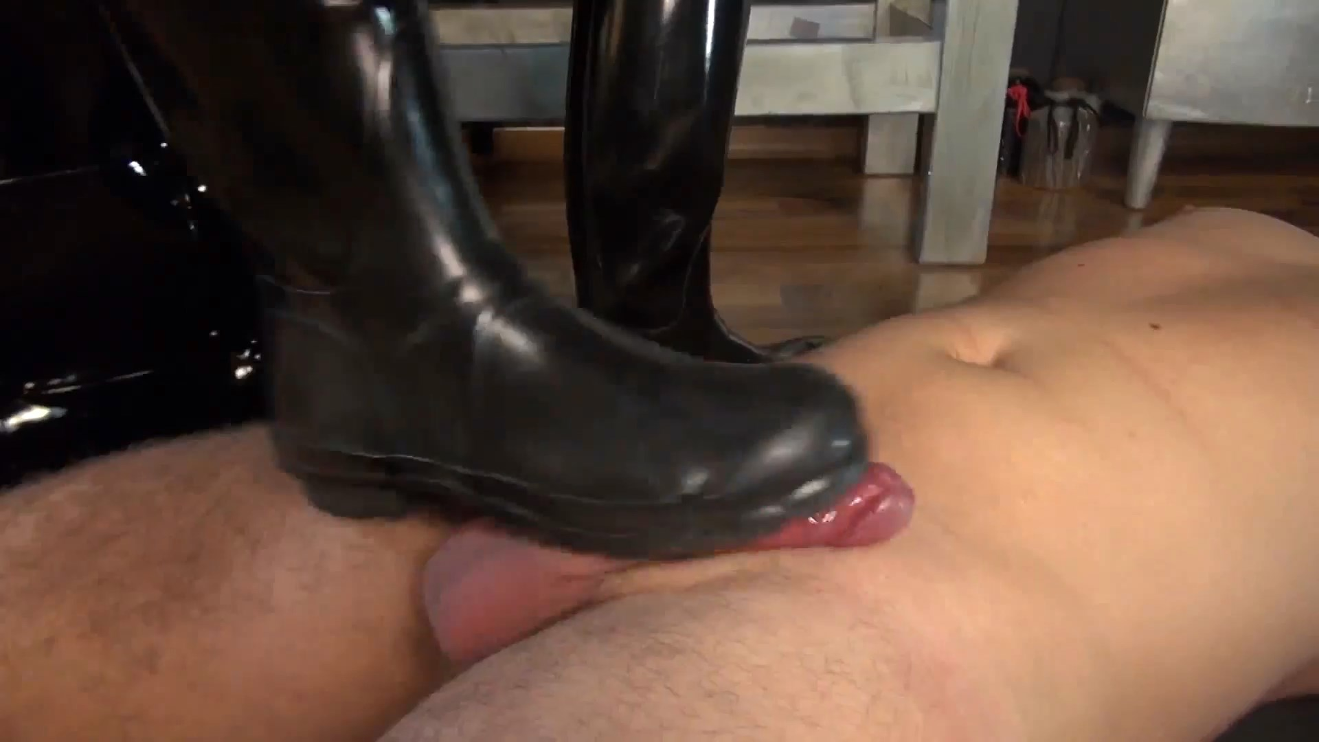 Cum On My Rubber Boots - Sperm Rubber Boots Cumshot - LADY VICTORIA VALENTE - FULL HD/1080p/MP4