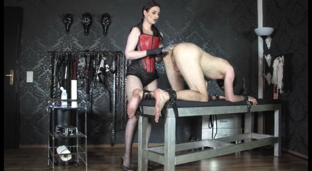 The Anal Slave! Leather Corset Goddess Anal Game Part 2 - LADY VICTORIA VALENTE - SD/576p/MP4