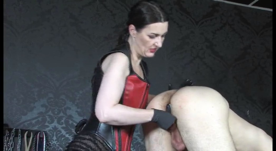 The Anal Slave! Leather Corset Goddess Anal Game Part 1 - LADY VICTORIA VALENTE - SD/576p/MP4