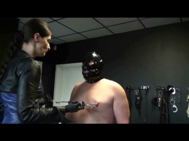 Black And Blue Leather (Part 3 - Forced Bi Blowjob) - LADY VICTORIA VALENTE - SD/480p/MP4