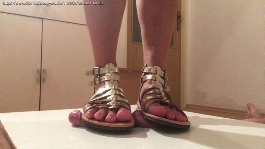 Goddess Strappy Sandals - MISTRESS FATALIA - SD/480p/MP4