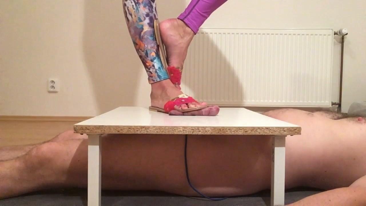 Big Feet In Flats Crush Cock And Balls - MISTRESS FATALIA - HD/720p/MP4