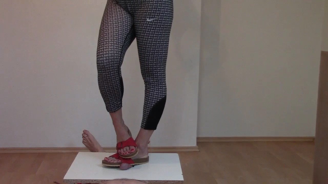 Cbt Birkenstock Red Sandals On Slave Cock And Balls - MISTRESS FATALIA - HD/720p/MP4