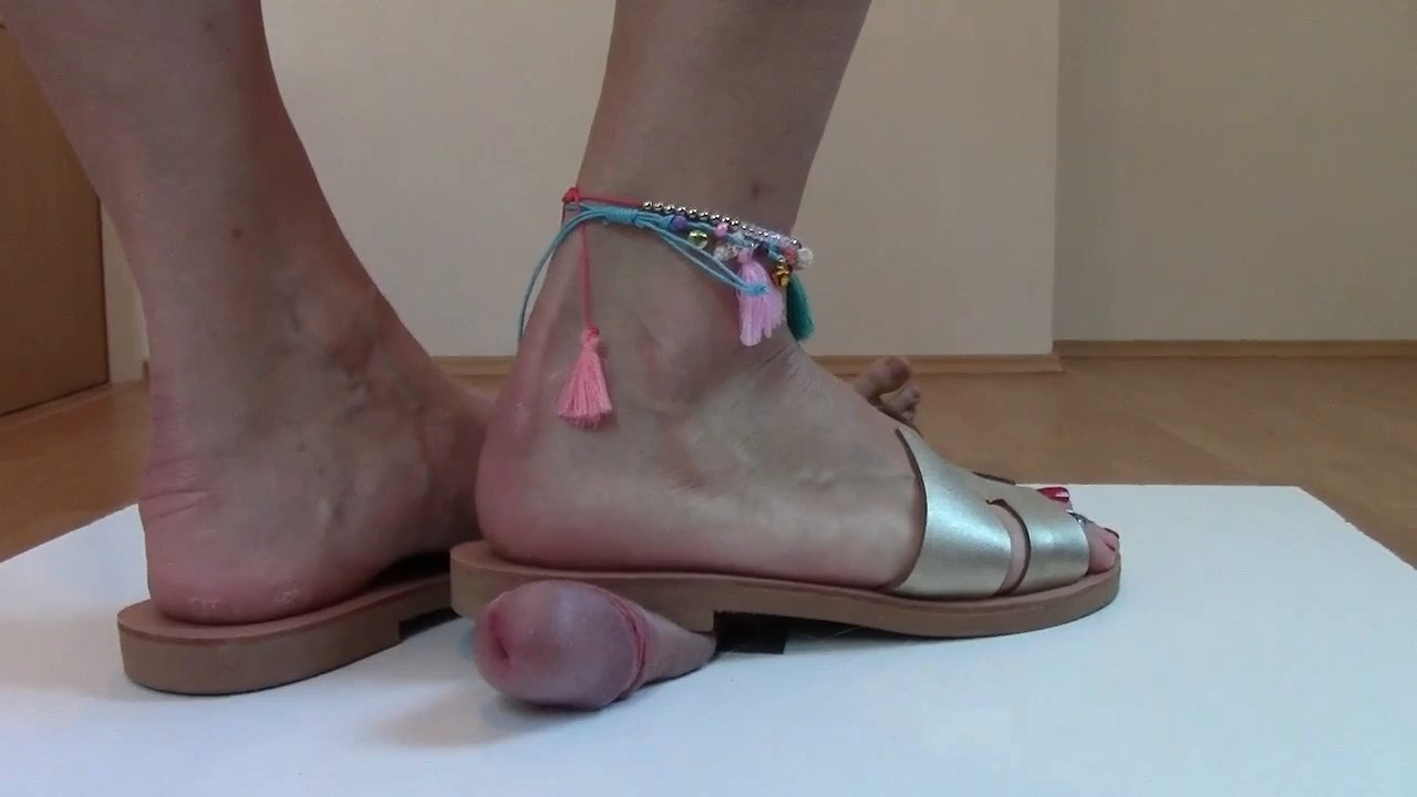 Sexy Cbt With Toe Rings And Anklets Extreme Close Up View - MISTRESS FATALIA - HD/720p/MP4