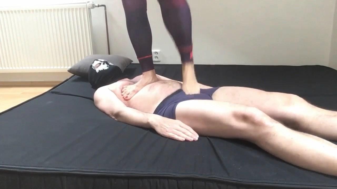 Trampling Cbt Workout On Human Slave Close Up View - MISTRESS FATALIA - HD/720p/MP4