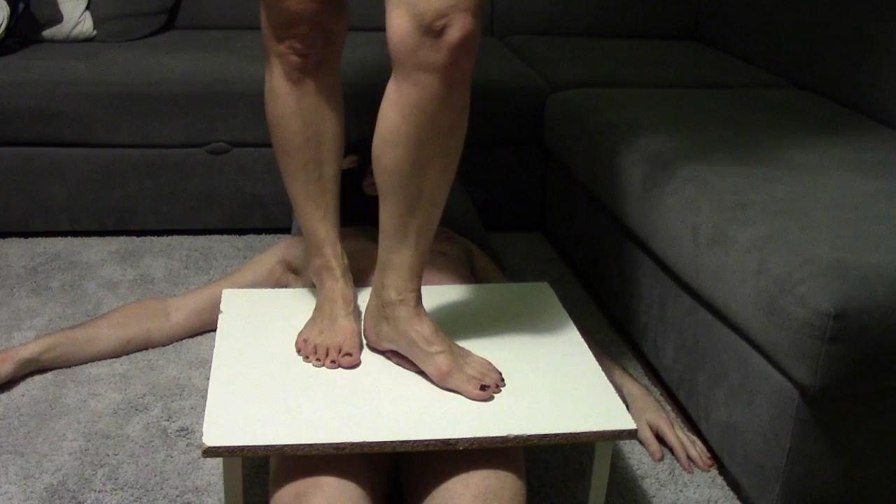 Femdom Cockboard Barefoot Ball Crush - MISTRESS FATALIA - HD/720p/MP4